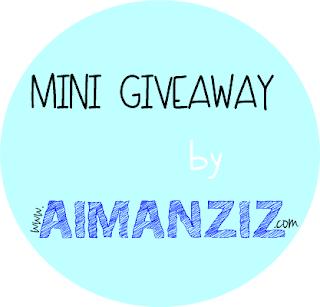 Mini Giveaway by www.AimanAziz.com