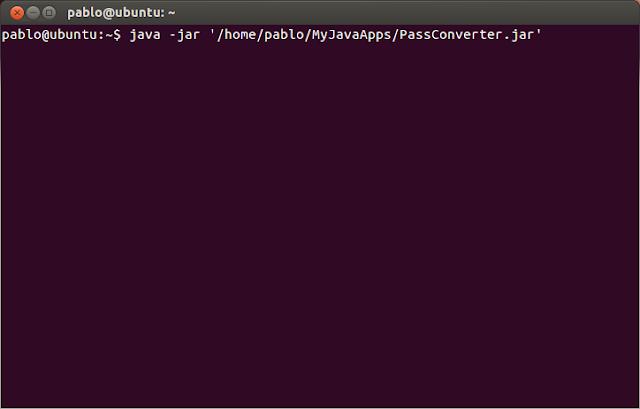 comando para ejecutar un .jar en Ubuntu Linux