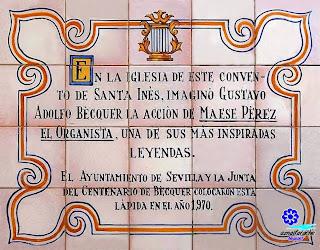 Sevilla - Azulejo en el atrio del Convento de Santa Inés