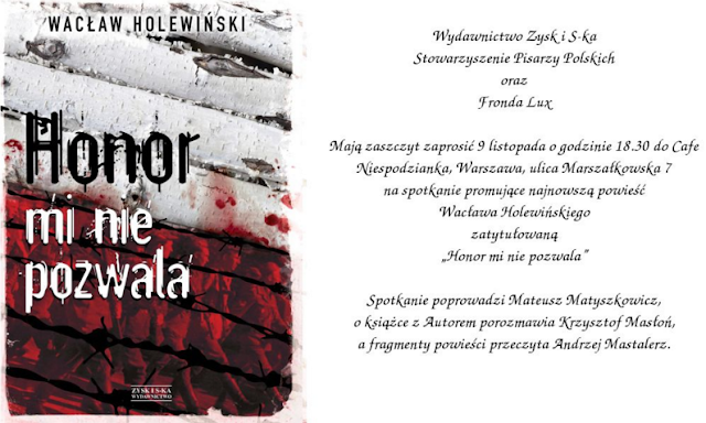 Zaproszenie na spotkania autorskie z Wacławem Holewińskim, Piotrem Semką i Bogusławem Chrabotą