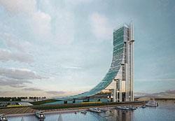 Un edificio que representará a la ciudad con forma de Argentina