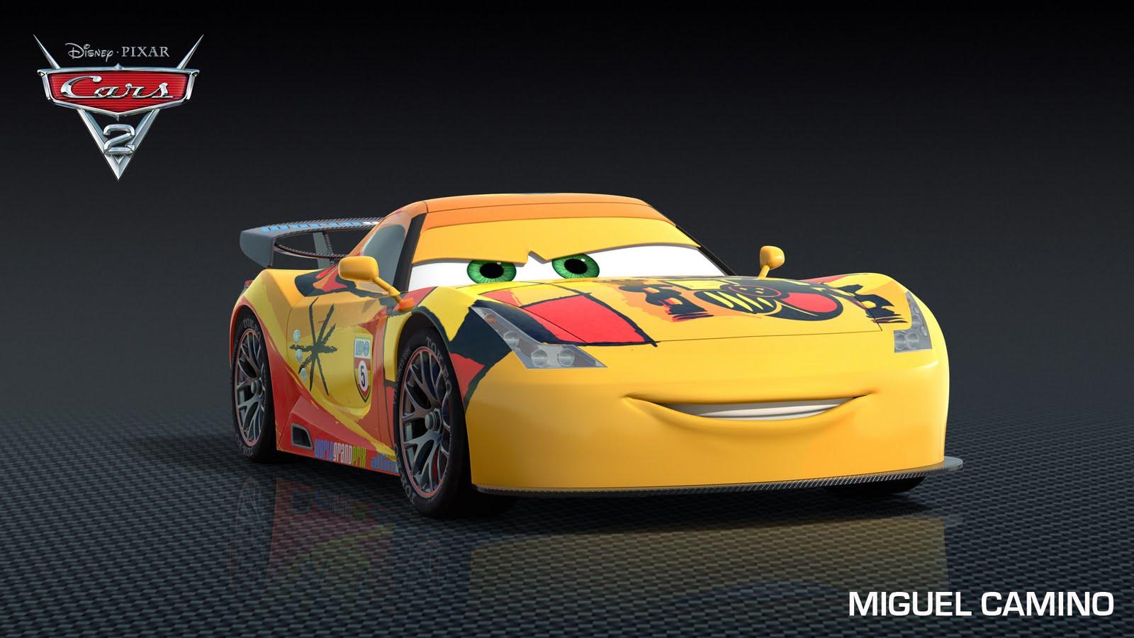 Pixar presenta a miguel camino y max schnell de cars 2