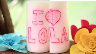 lola+candle Mothers Day Gift Idea #2: Personalized Candle