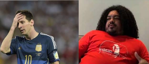 Comparando Perdigão e Messi