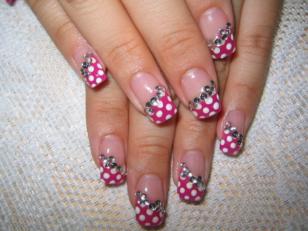 pink nail art design beauty