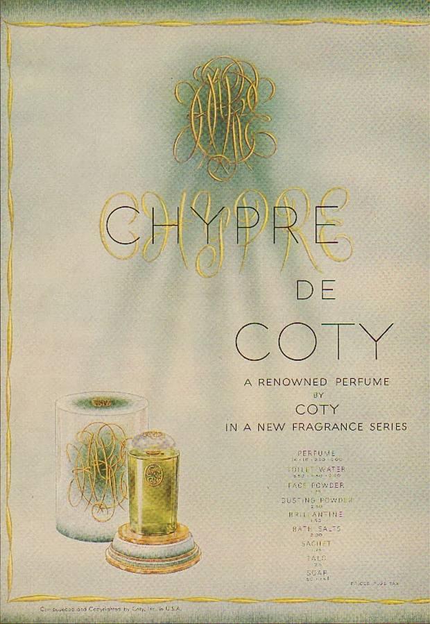 Reklama perfum Francois Coty Chypre