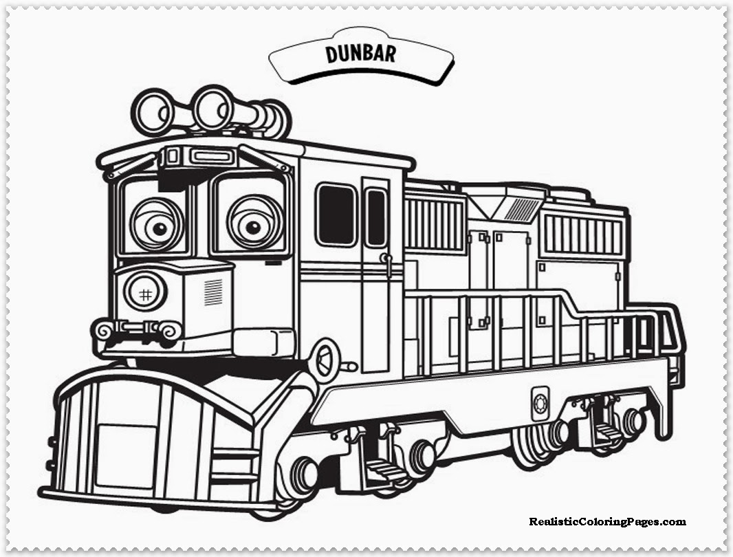 dunbar chuggington coloring pages