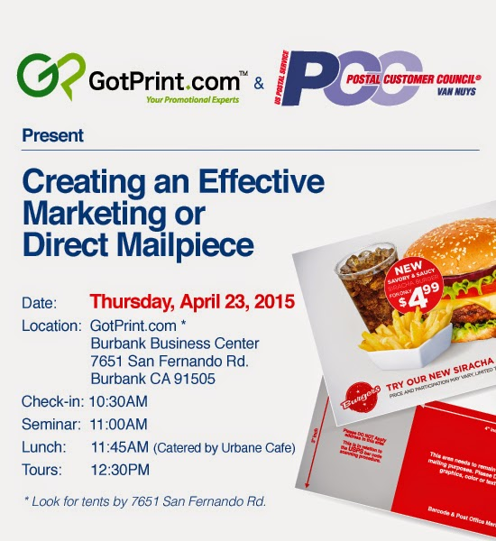GotPrint and USPS PCC present a seminar on direct mailpieces