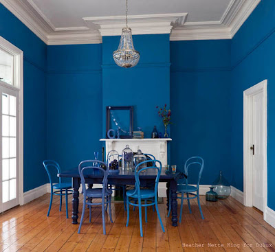 blue interior paint colors