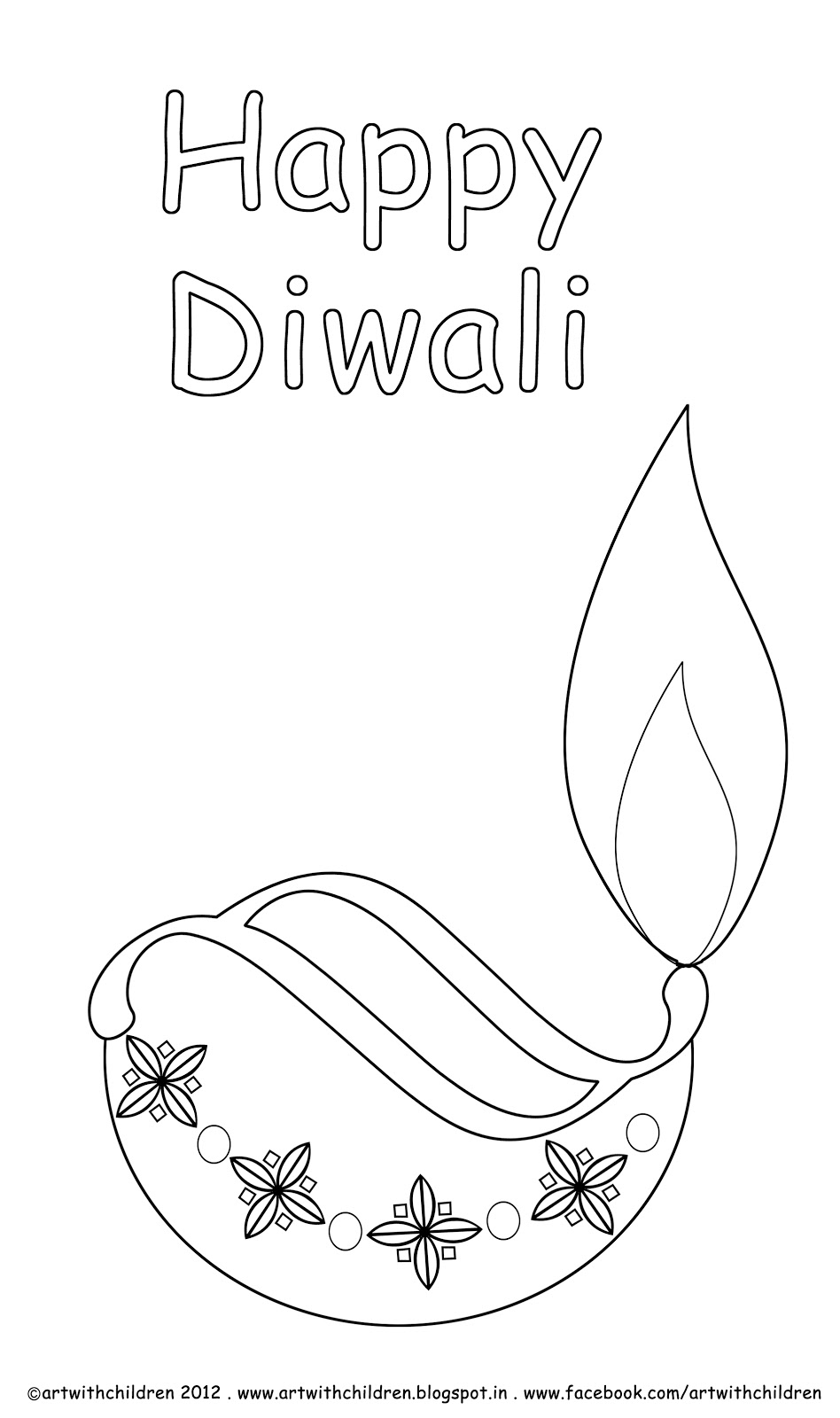 free diwali coloring pages - photo#23