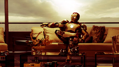 Iron Man 3 on Sofa HD Wallpaper