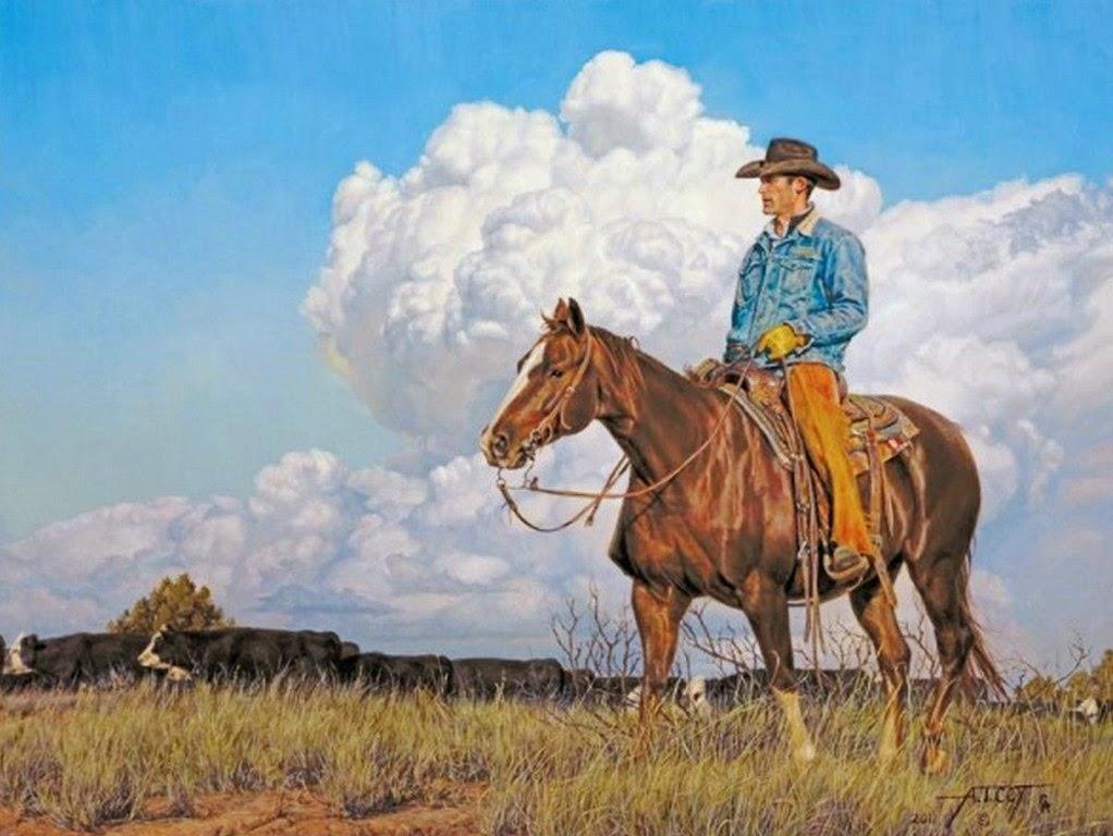 paisajes-al-oleo-con-caballos-y-vacas
