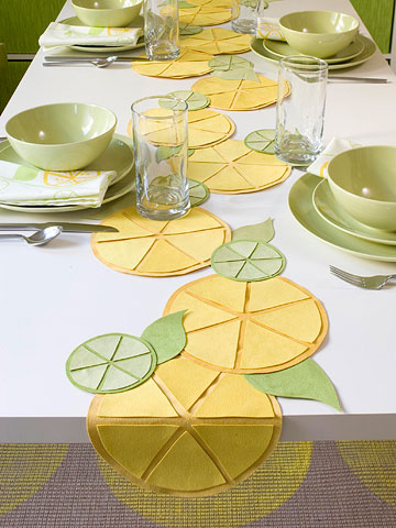 Make a Citrus Table Runner Spring 2013 Ideas | Best Modern ...