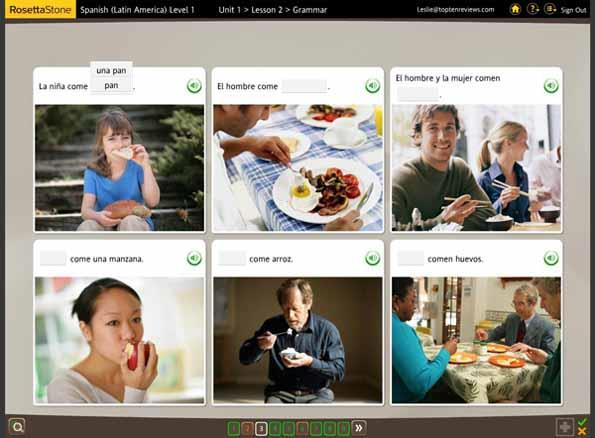 Rosetta Stone Spanish Screenshot