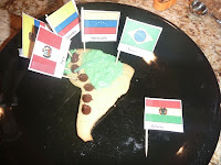 Cookie Map of South American - Edible Hands-On Geography Activity