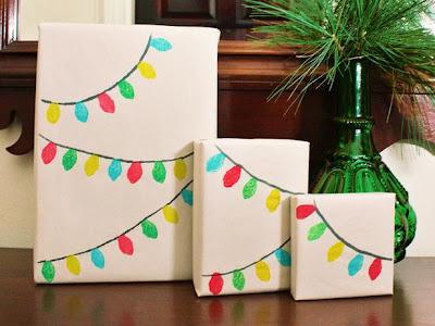 25 idées d'emballage cadeau par CocoFlower - guirlande dessinée