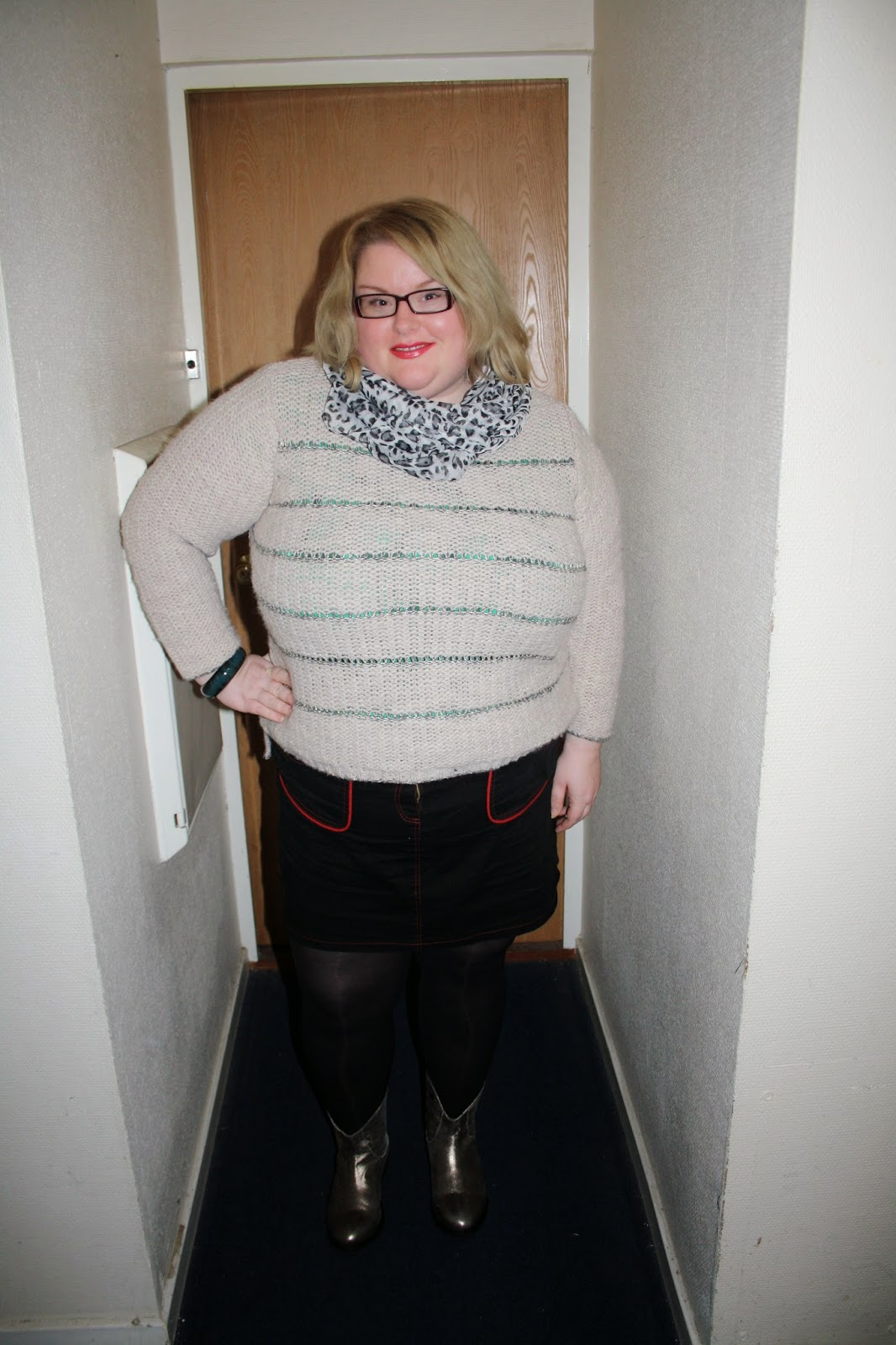 i paired it with my lovely boots from evans that ive reviewed before here and a christmas present from marks and spencer and my lovely snood i got as - Mookies Last Christmas