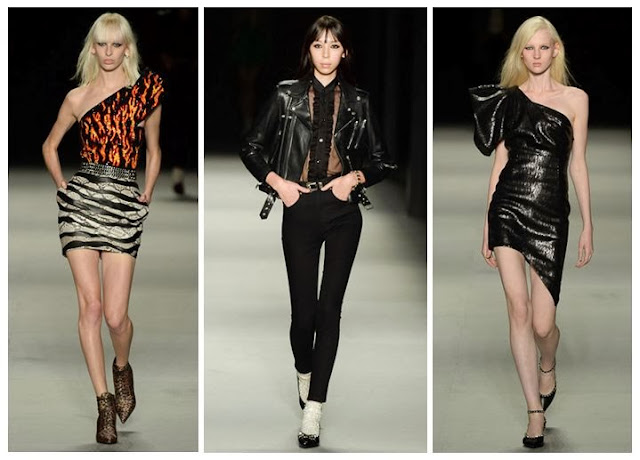 Hedi Slimane's SS14 womenswear with rock n roll aesthetic