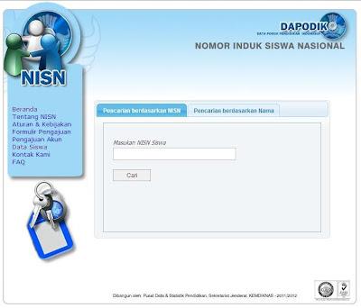 Cara Mencari NISN se Indonesia