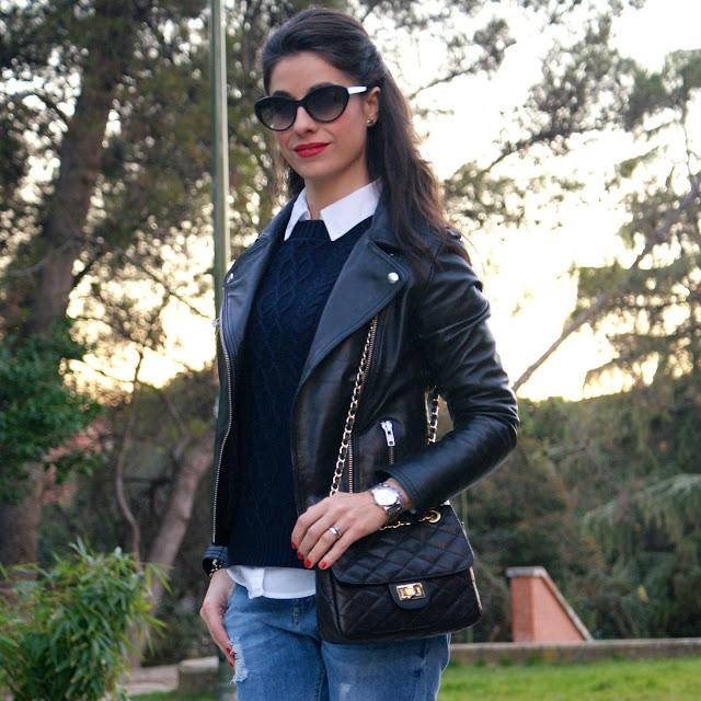 LaCaprichossa-Fashion Blogger-Street Style-MANGO-mocasines-yanes young-pulseras cruciani-cazadora perfecto-Caprichossa-blog