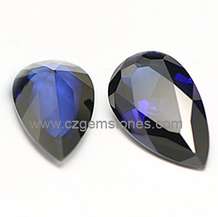 lab blue sapphire gemstones