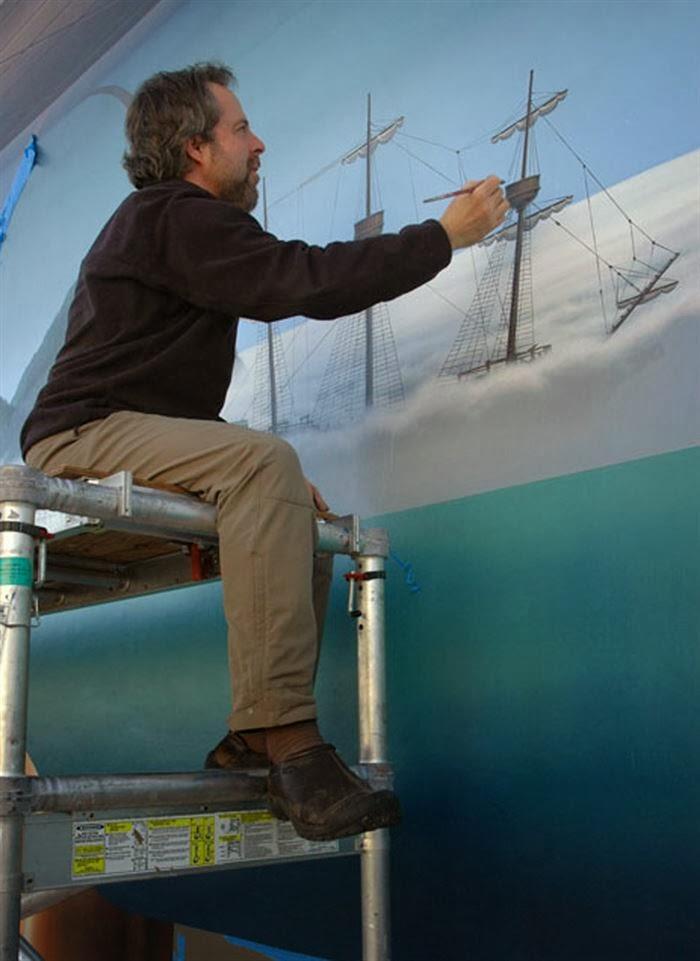 حقائق مذهلة: بالصور : لوحات جدارية مذهلة 3D تبدو وكأنها جزء من المدينة !