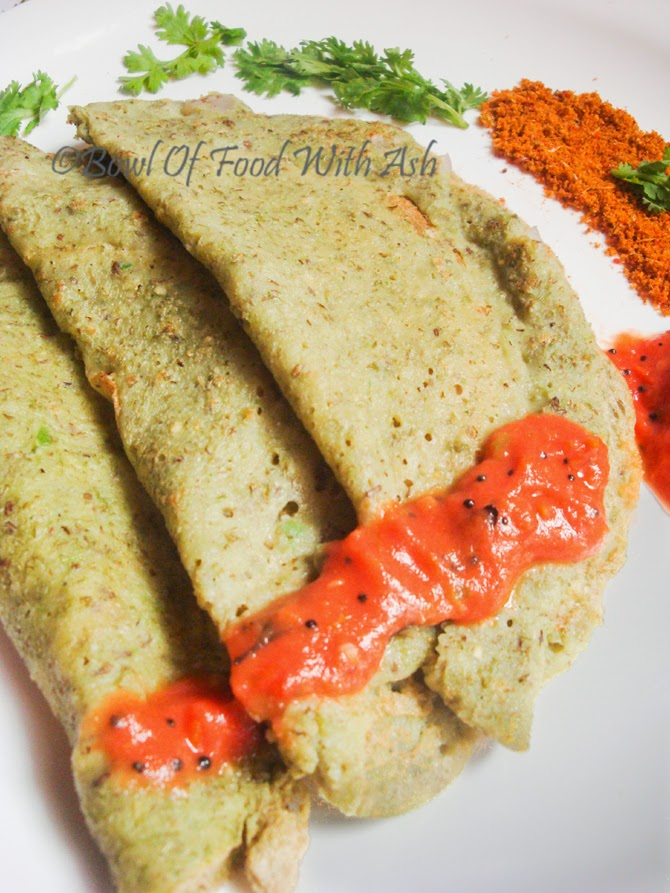 Sprouts Dosa or Moong Dal Dosa Recipe Pesarattu