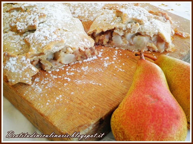 strudel di pere e noci alla vaniglia