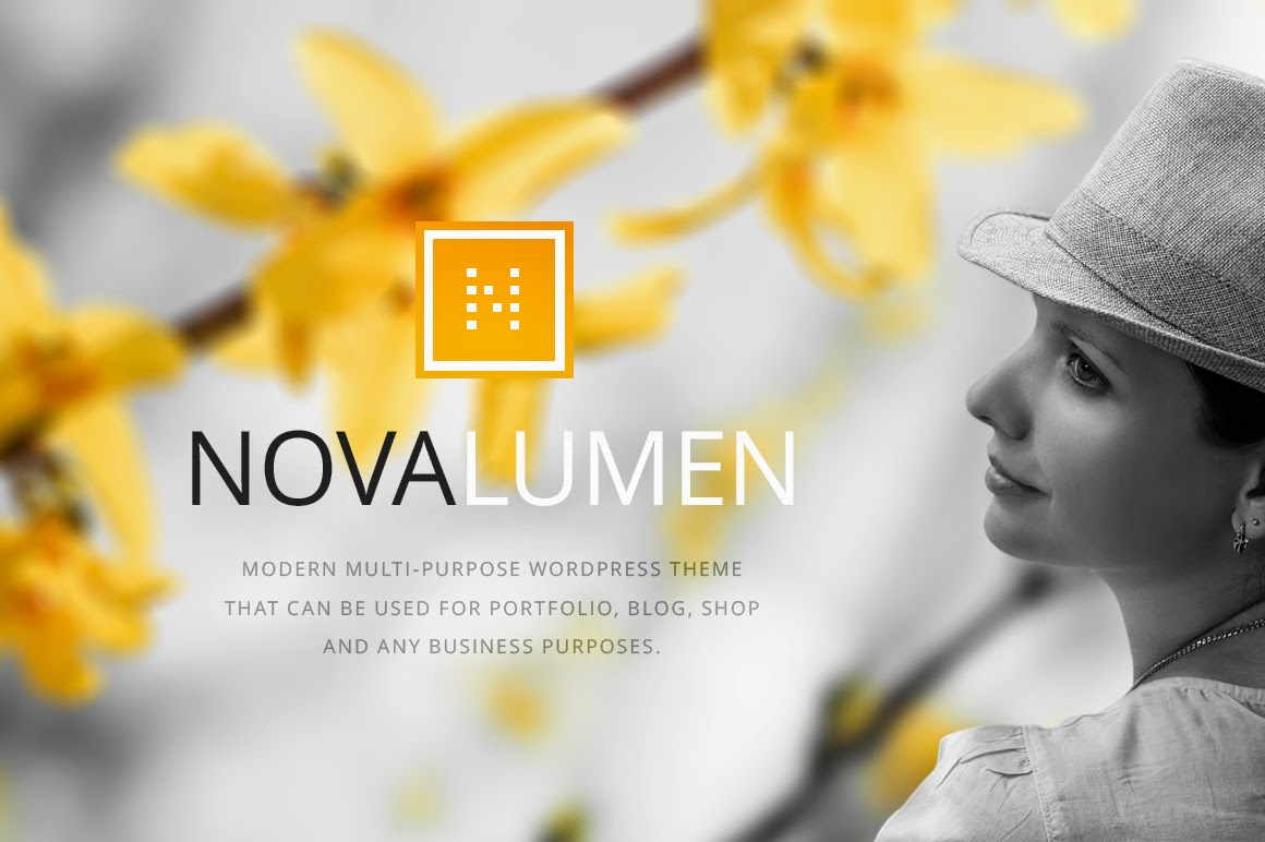 Novalumen - Creativemarket Modern WordPress Theme