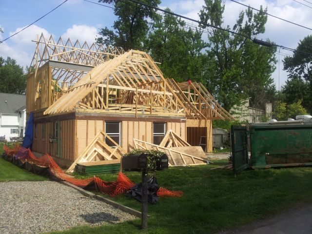 Energy efficient building network renovating and adding for Framing a second floor addition