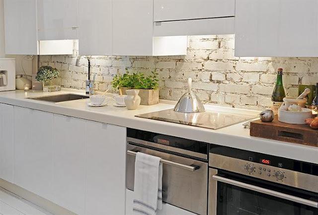 Cocinas de ladrillo visto decorar tu casa es - Decorar paredes de cocina ...