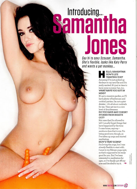Samantha Jones, Topless and Nude - &#39; New to ZOO &#39;  - ZOO Magazine - May 3, 2013