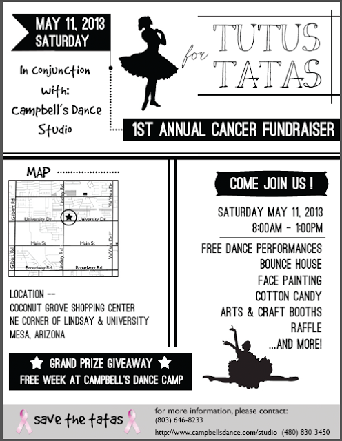 Tutus for Tatas Fundraiser - May 11th, 2013 in Mesa, AZ
