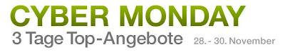 Amazon Cyber Monday vom 28.11.2011 bis 30.11.2011: Rund 450.000 Produkte bis 50 Prozent reduziert
