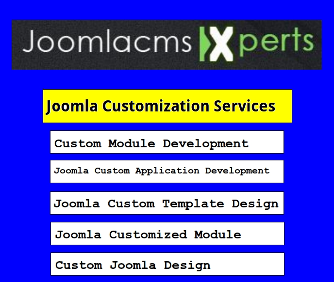 Joomla Customization India, Joomla Customization Services
