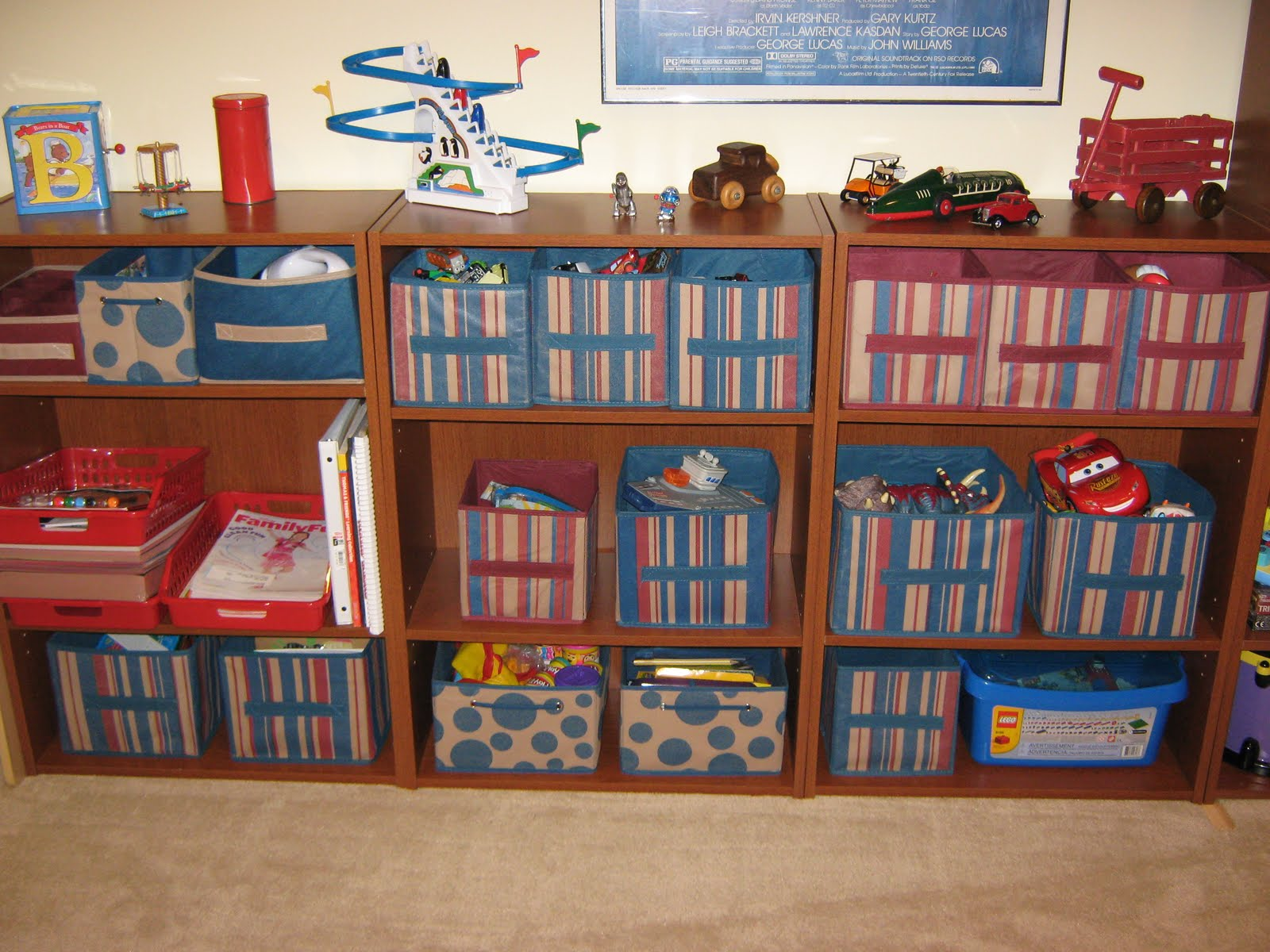 Fake it frugal get organized play room organization for Room organization