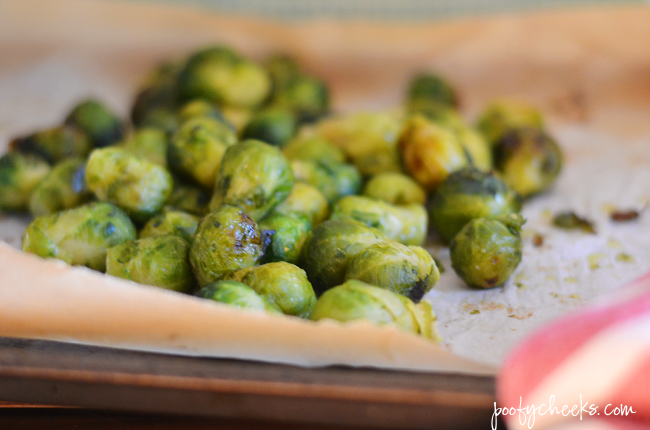 Side Dish Recipe - Roasted Brussel Sprouts with Honey Mustard Glaze
