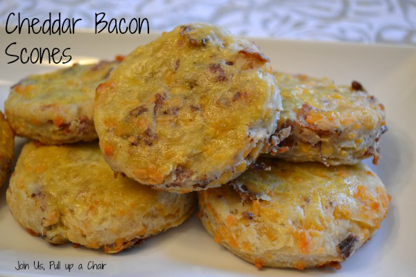 Featured Recipe | Cheddar Bacon Scones from Join Us, Pull Up a Chair #SecretRecipeClub #recipe #scones #bacon