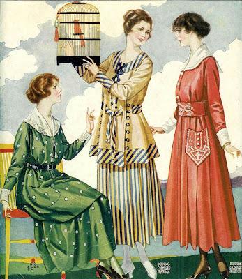 ilustración vintage publicidad años veinte