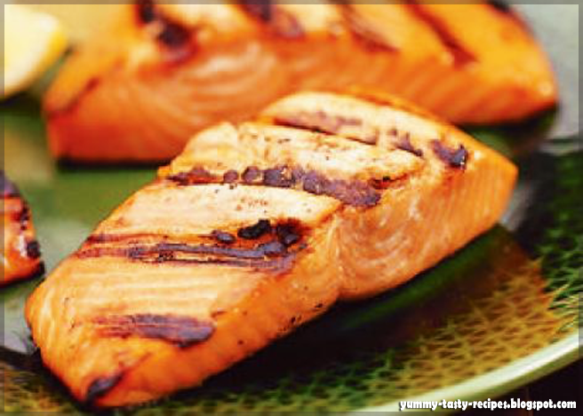 Yummy Tasty Recipes: Grilled Salmon With Honey