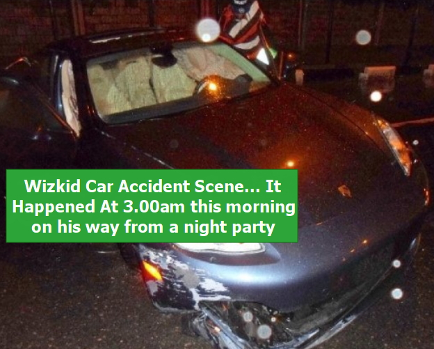 wizkid porsche car crashed