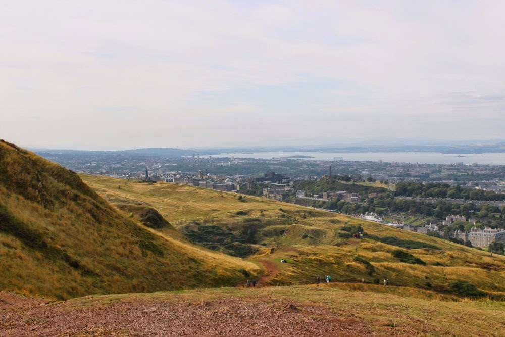 looking over edinburgh from arthur's seat, scotland