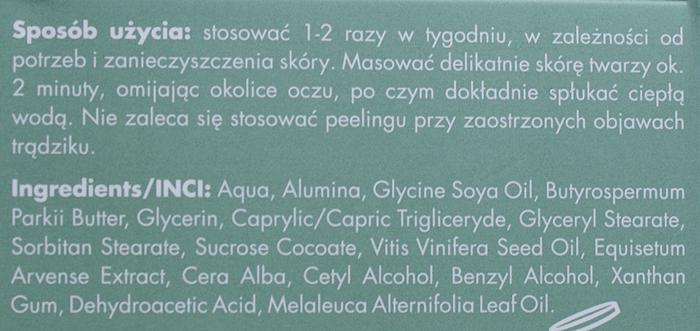 Sylveco Oczyszczający peeling do twarzy skład