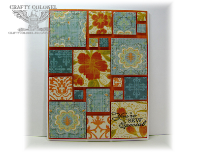 Crafty Colonel Donna Nuce for House of Cards Challenge blog, Simon Says Stamp Stitched Squares, Card