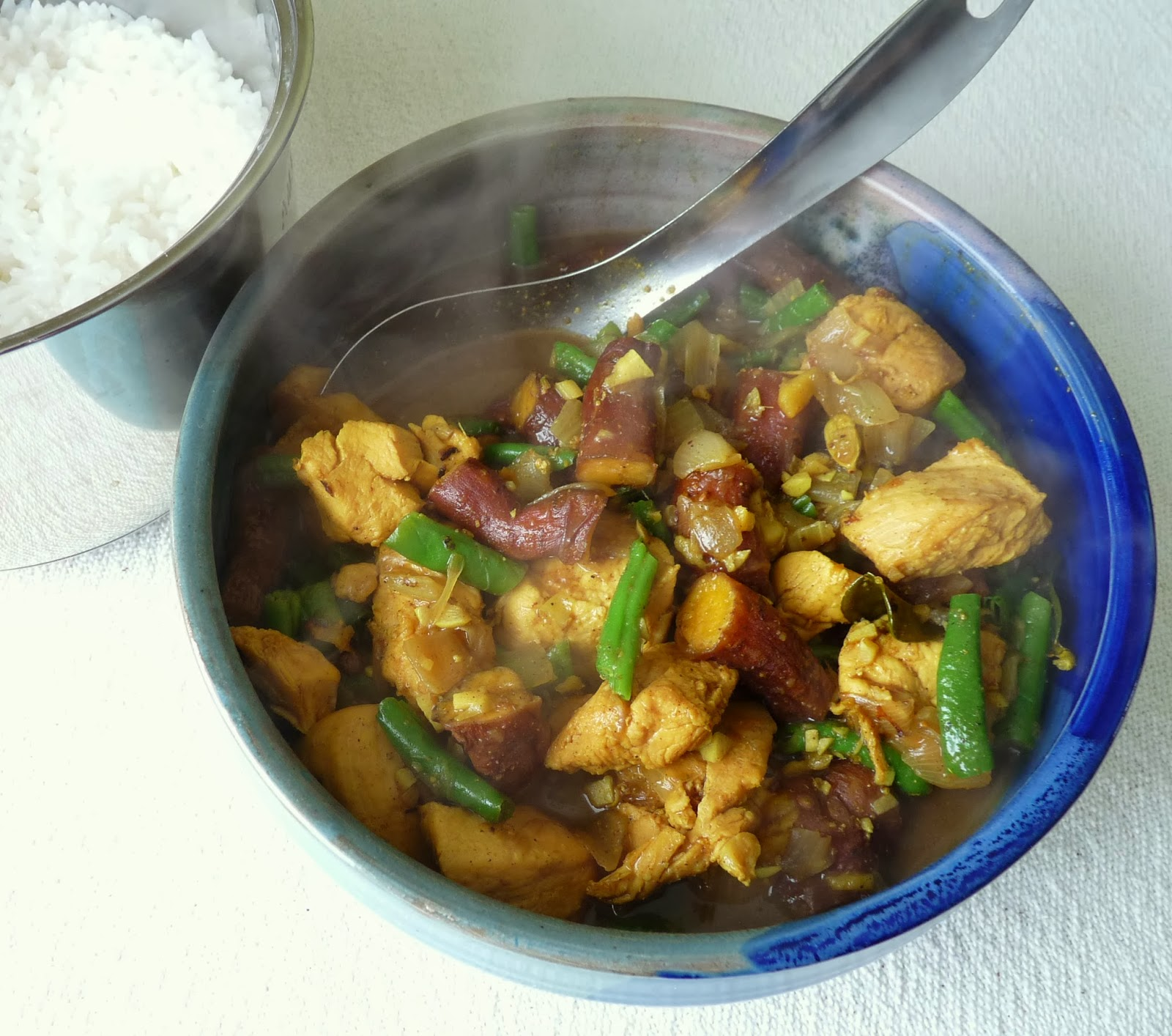 Malaysian Style Chicken & (Sweet) Potato Curry