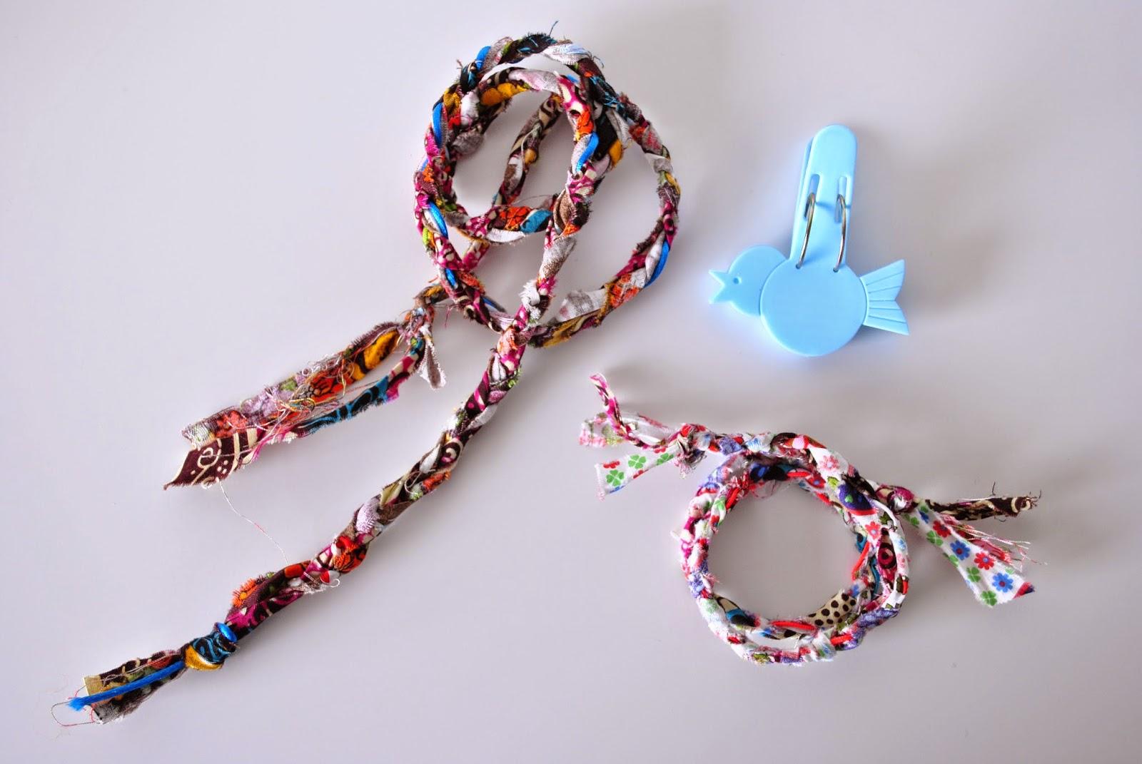 diy fabric bracelet