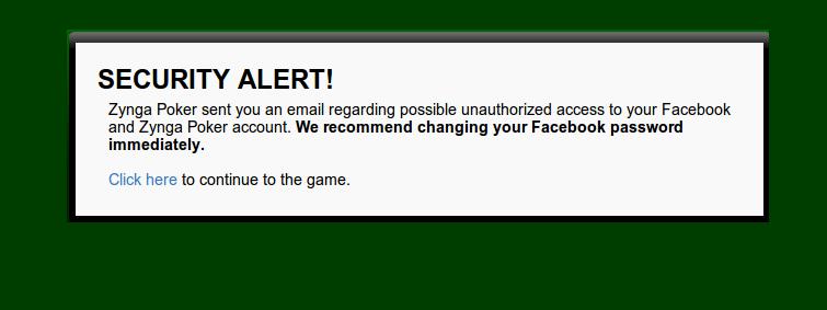 Zynga Security Alert