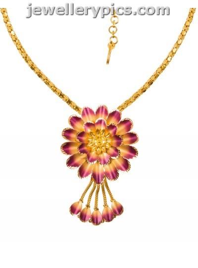 Saravana Jewelelrs Gold Necklace Deisgns Latest