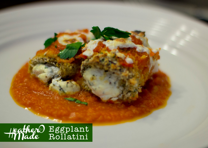 Eggplant Rollatini. meatless. vegetarian. recipe.