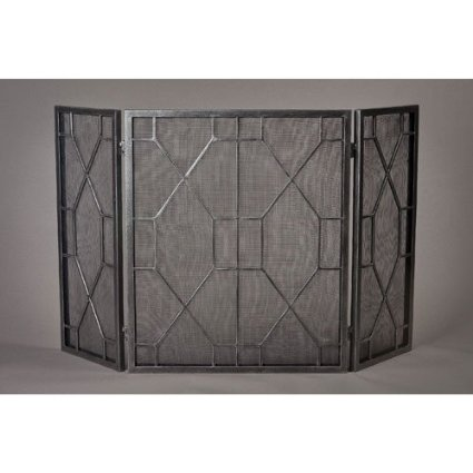 This one (above) is also by Dessau Home, and has the safety mesh, in  addition to being hinged on panels. Yes, more functional, but perhaps not  as striking ... - Some Deco And Moderne Fireplace Screens! Art Deco Resource